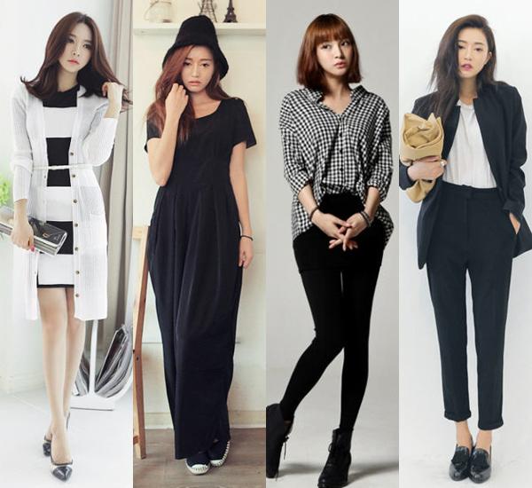 ชุดสีขาวดำ