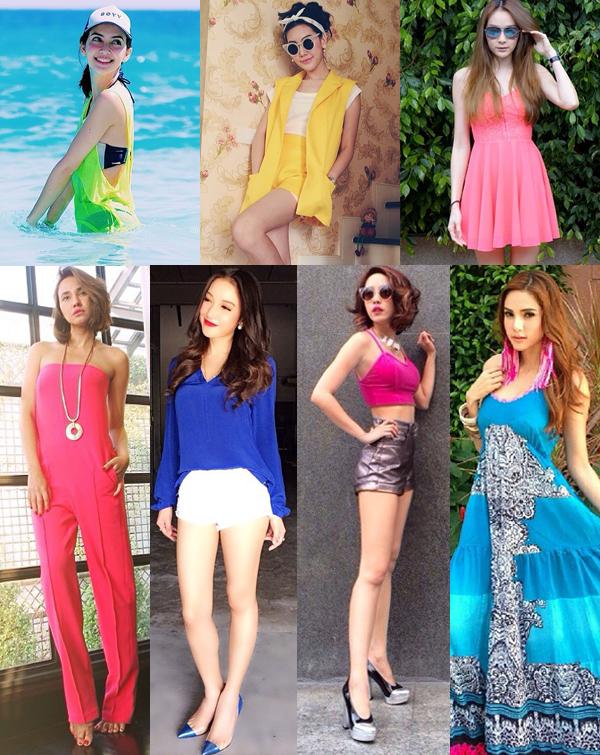 แฟชั่นเสื้อผ้าหน้าร้อนเหล่าดารา สีสดสวย ใส่เปรี้ยว ๆ
