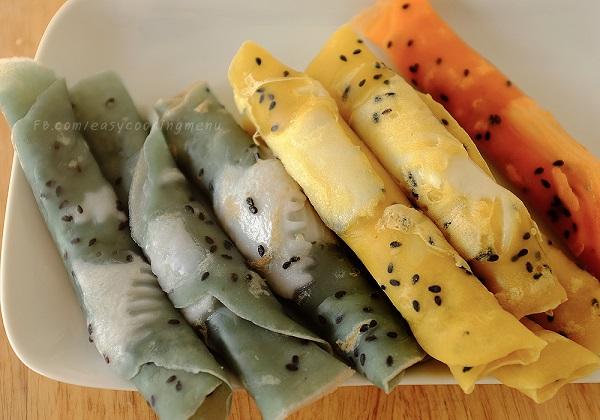 ทองม้วนสด กระทะเทฟลอน สูตรขนมไทยทำง่าย ๆ กินได้จริง