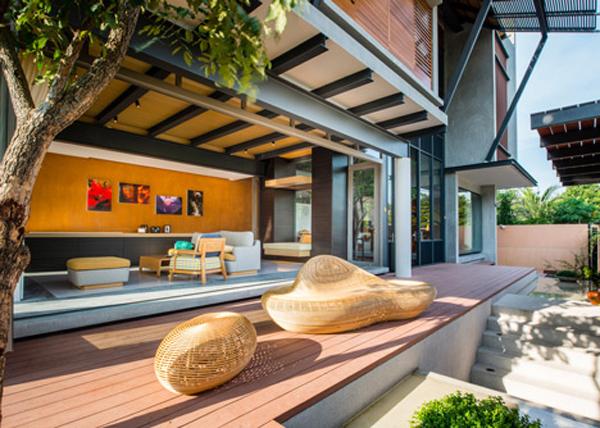 แบบบ้านไทยประยุกต์ 2 ชั้น สวยมีสไตล์ อากาศถ่ายเท
