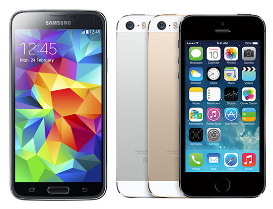 Galaxy S5 vs iPhone 5s