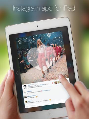 Flow for Instagram แอพฯ เล่น Instagram บน iPad