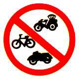 ห้ามรถจักรยาน รถสามล้อ รถจักรยานยนต์
