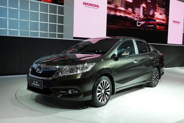 Honda ปล่อยหมัดเด็ดสู้ตลาดจีนกับ 2013 Honda Crider Sedan