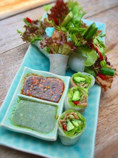BeefuKu Spring Rolls...เมนูผักสุดเก๋ อิ่มอร่อยสไตล์ญี่ปุ่น+เวียดนาม